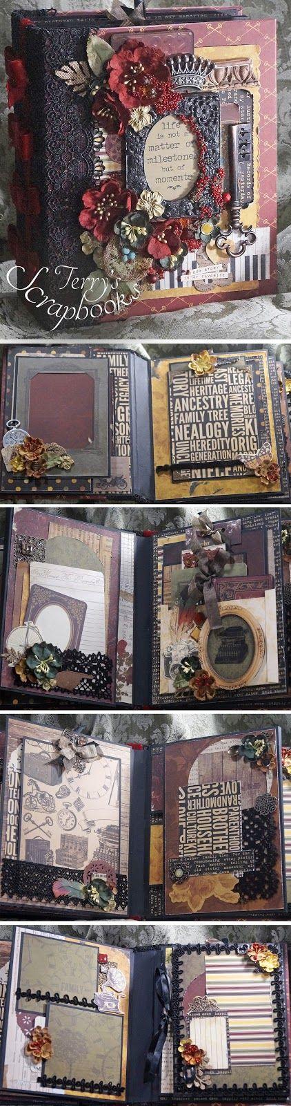 BoBunny Heritage Scrapbook Mini photo album Scrapbook, Minis and Album