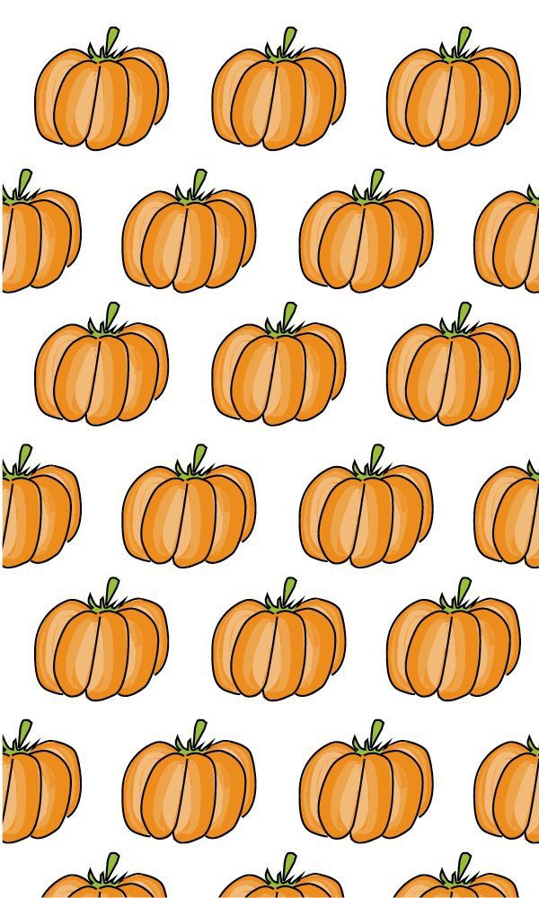 Cute pumpkin iPhone background Fall & Halloween