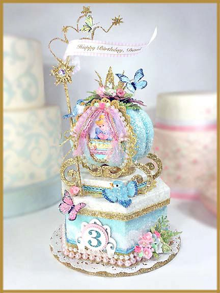 Cinderella Birthday Cake Topper Keepsake Box Image Pinteres