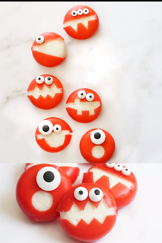 Photo of Babybel cheese monsters