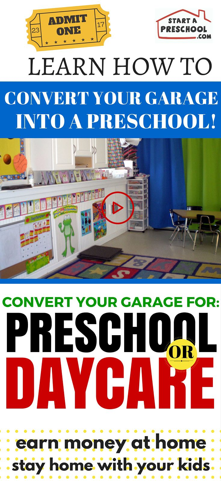 How to convert your garage into a preschool or daycare