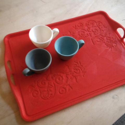 3D printing Basic teatime tray, italymaker
