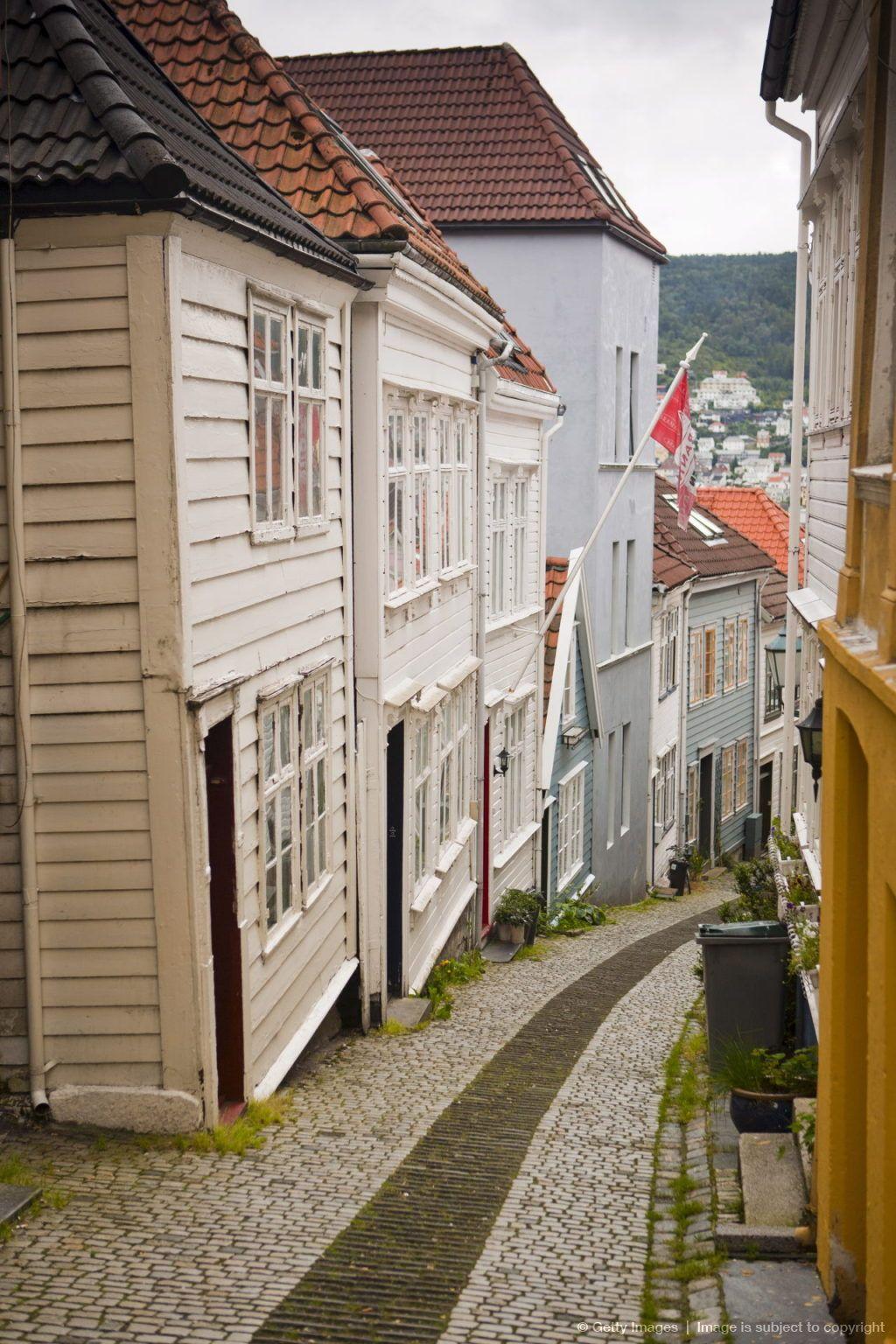 Image detail for -Knosesmauet street, Stransidden district, Bergen, Hordaland, Norway, Scandinavia, Europe