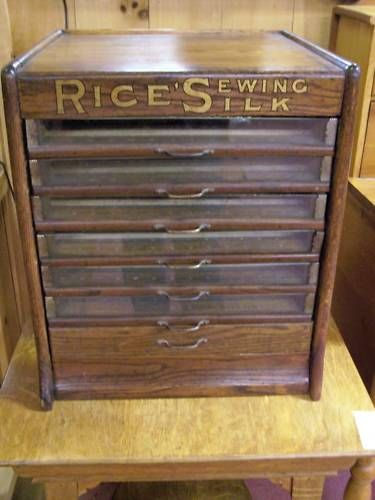 Oak Silk Cabinet from the Rice Silk Mill in Pittsfield Mass. The ...