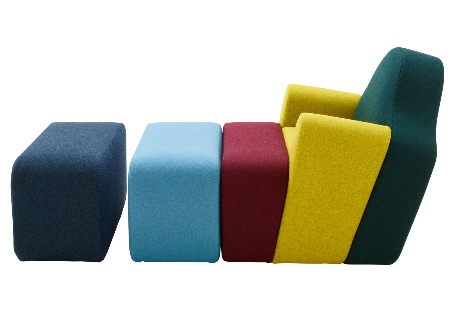 Pierre Charpin S Slice Chair For Cinna Is Split Up Into Blocks Disenos De Unas Muebles De Colores Revista Diseno De Interiores