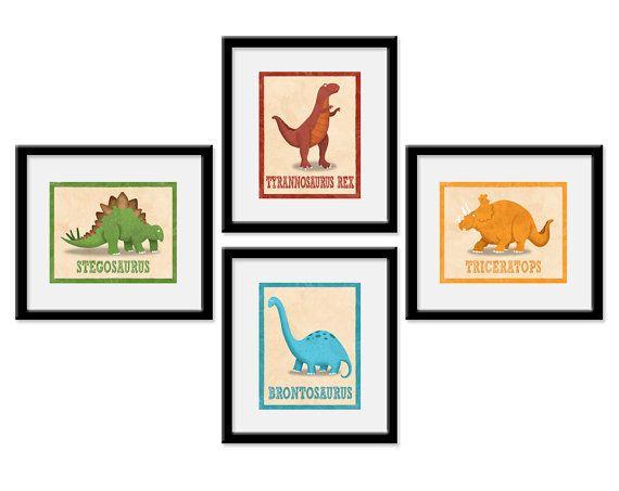 Dinosaur Nursery Art   Dinosaur Room Decor   Dinosaur Art   Set Of 4 Dinosaur  Art Prints   Baby Boy Dinosaur   Dinosaur Nursery
