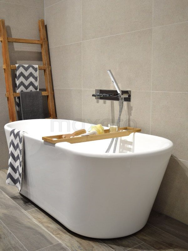 Natuursteen & hout badkamer | Huis | Pinterest - Hout badkamer ...