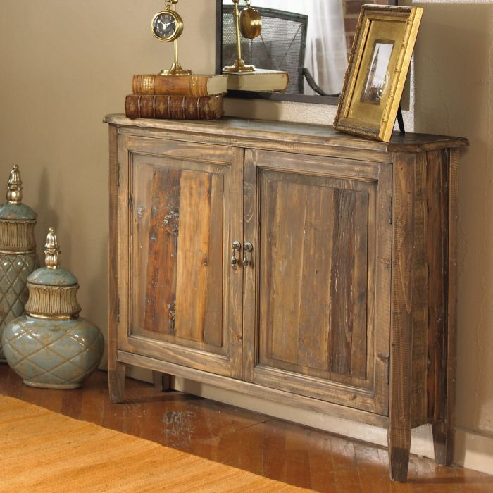 Altair Reclaimed Wood Console Cabinet By Uttermost