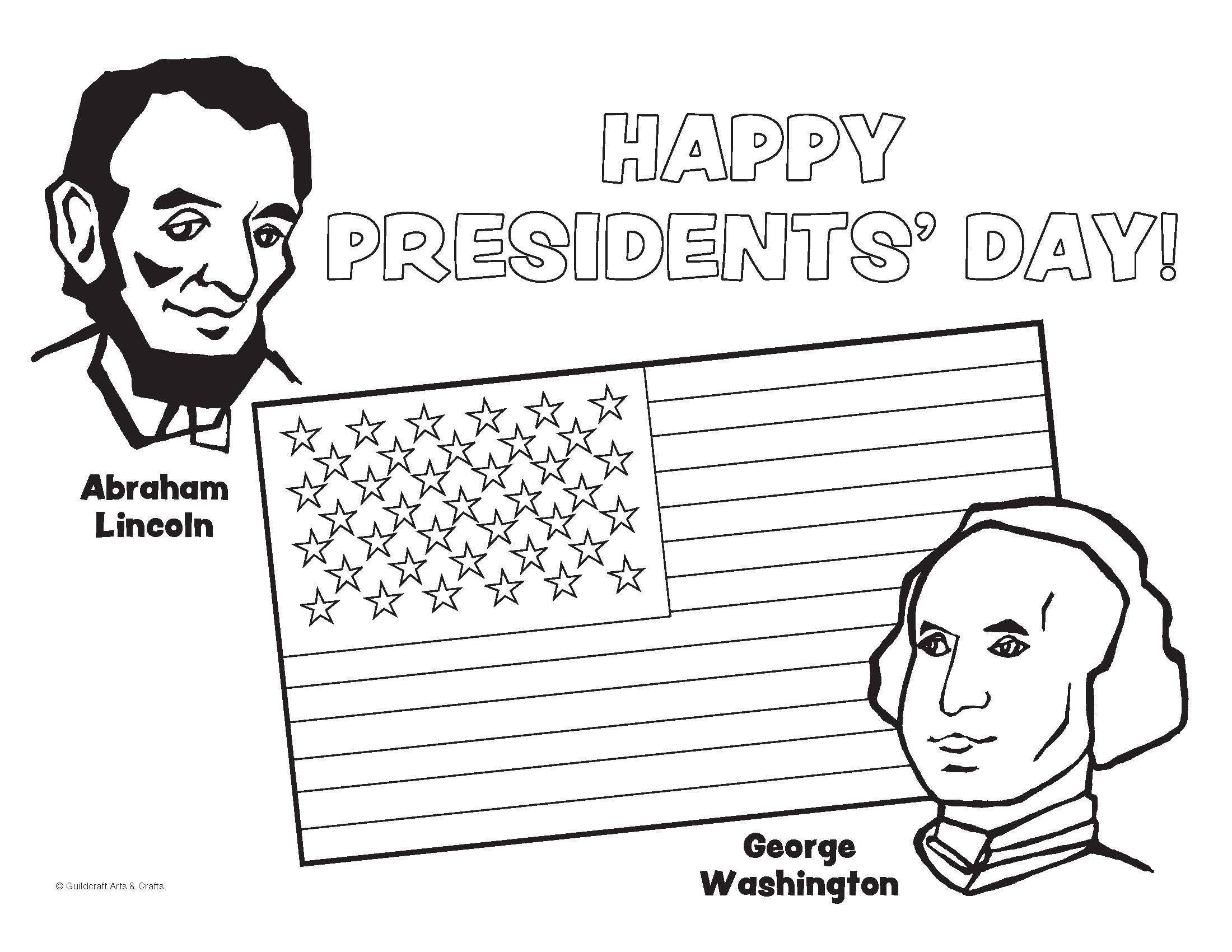 President S Day Coloring Sheet