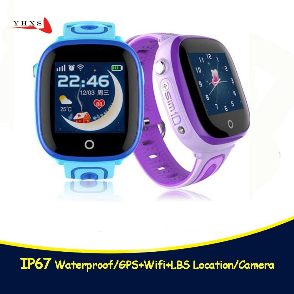 2018 New Ip67 Waterproof Smart Safe Gps Lbs Location Touch Screen Sos Call Monitor Wristwatch Finder Tracker Watch For Kid Smart Safe Phone Watch For Kids Gps