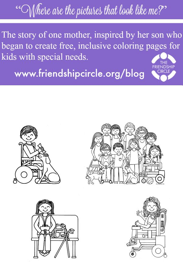 Free Inclusive Coloring Pages For Kids With Special Needs Coloring Pages For Kids Coloring Pages Kids