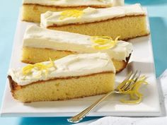 Zitronenschnitten mit Joghurt-Butter -