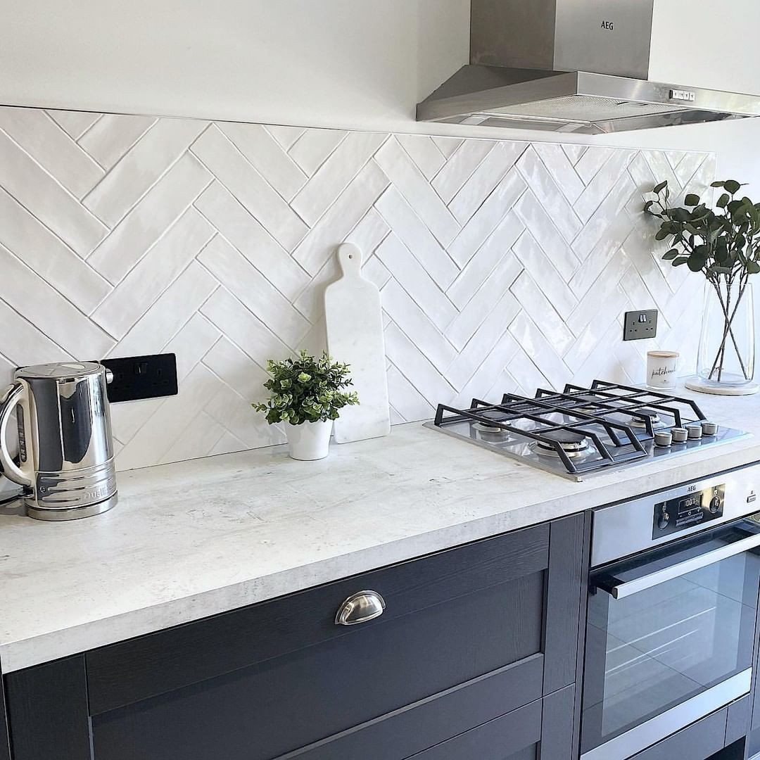 Pin On Home There S No Place Like It 3 White tiles for kitchen