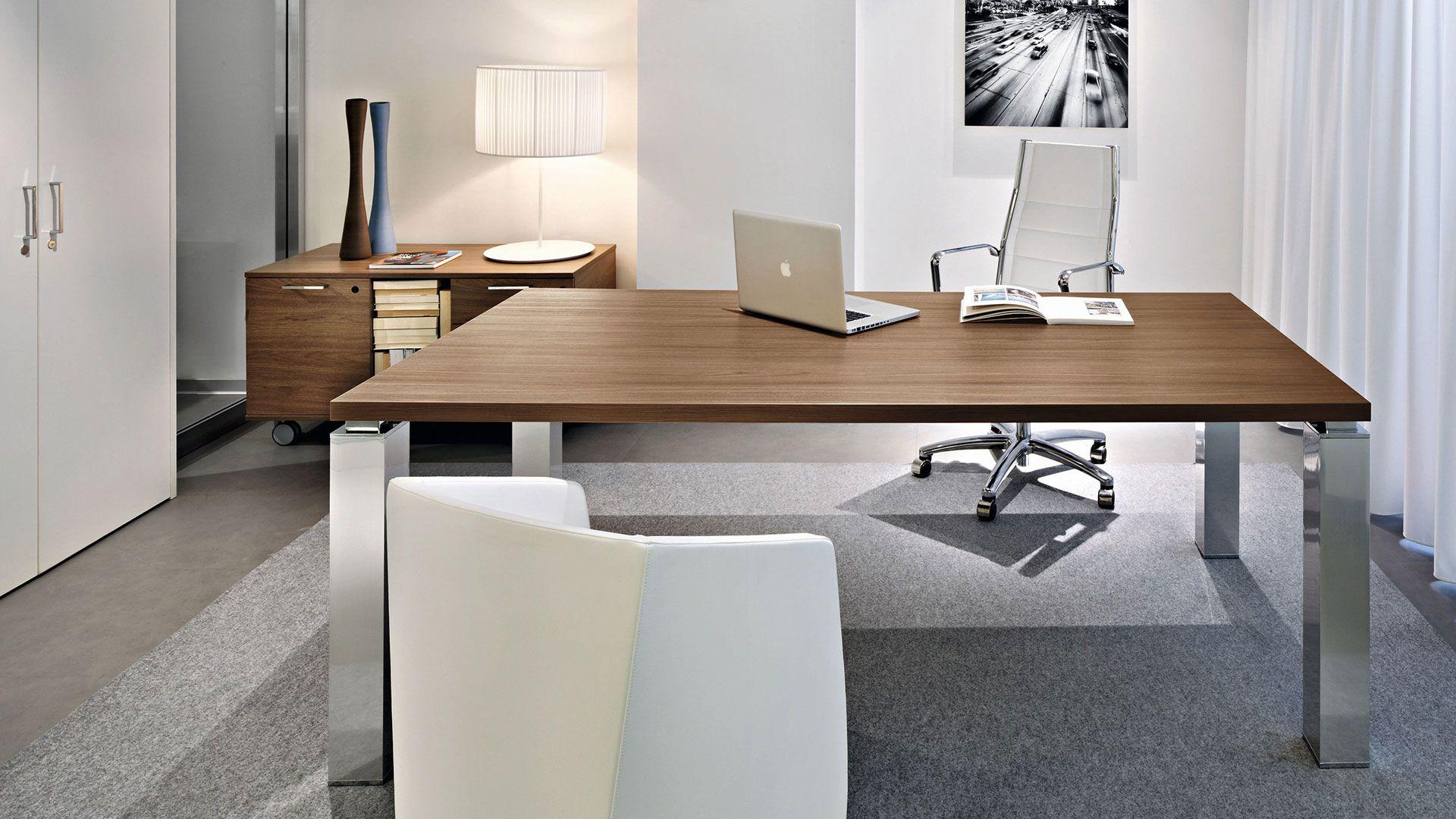 Schreibtischplatte  Chefschreibtisch Tao mit extra 38mm starken Schreibtischplatte mit ...