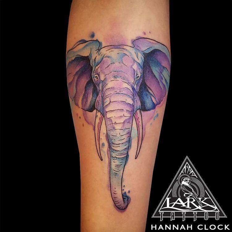 3207d1c63 75 Big And Small Elephant Tattoo Ideas | Tattoos | Watercolor ...