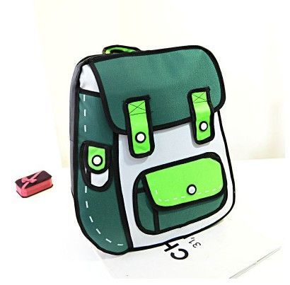 Fashion cute secondary yuan cartoons stereo backpack