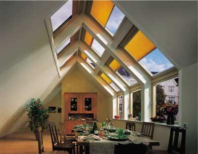Offene Küchen bringen Weite unters Dach Dachneigung, Dachfenster - wohnideen unterm dach