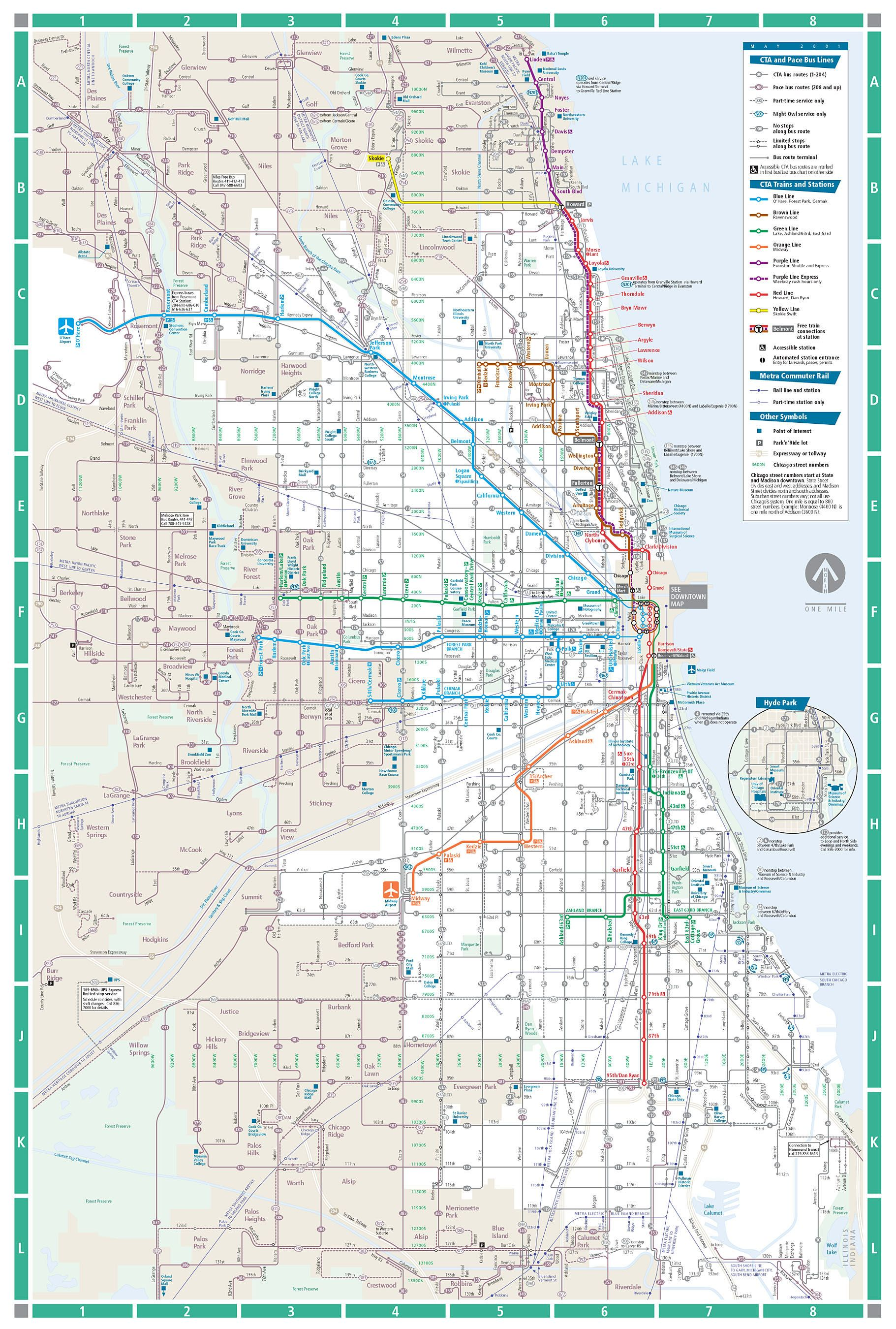 chicago subway map