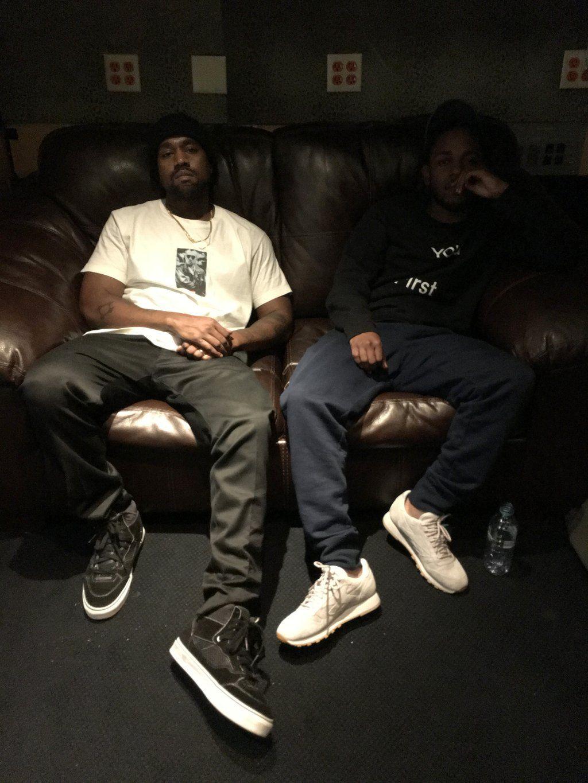 Kanye West Is In The Studio With Kendrick Lamar And Swizz Beatz Hip Hop News Source Kanye West Kendrick Lamar Kanye