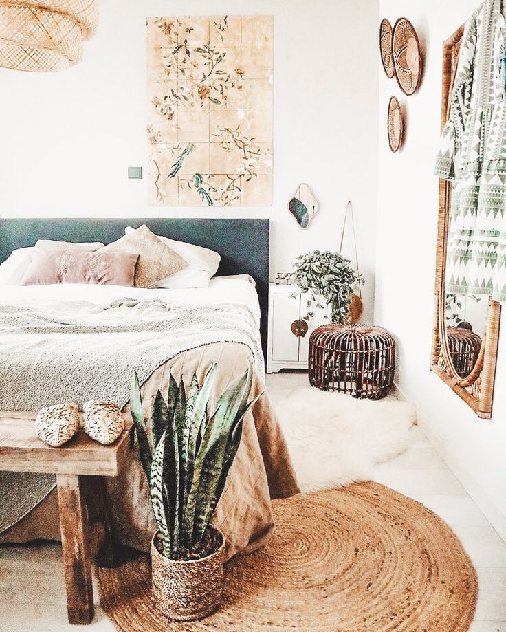#pretty #room #bed #bedroom #plants #ideas #house #decoration #tryit