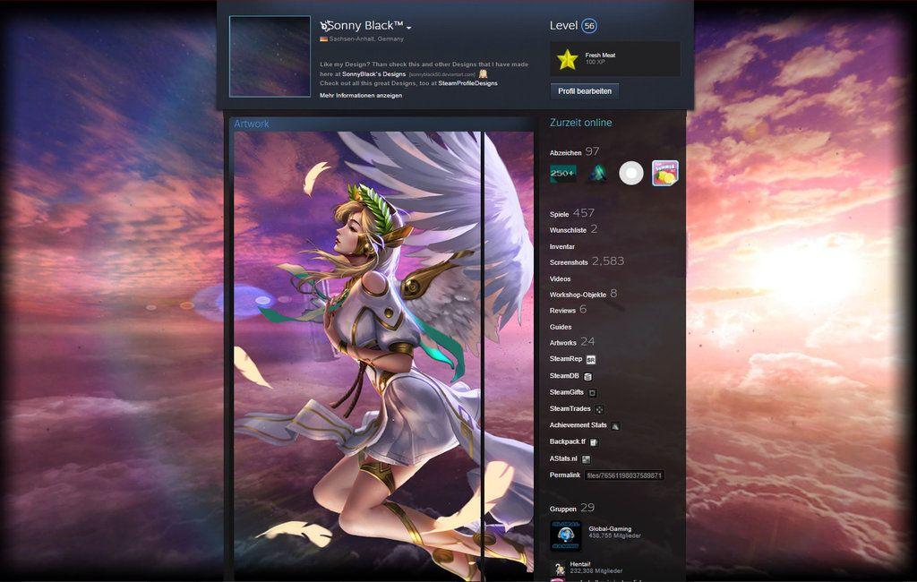 Overwatch Mercy 2 Steam Profile Design By Sonnyblack50 Steam Profile Mercy Overwatch Profile Design