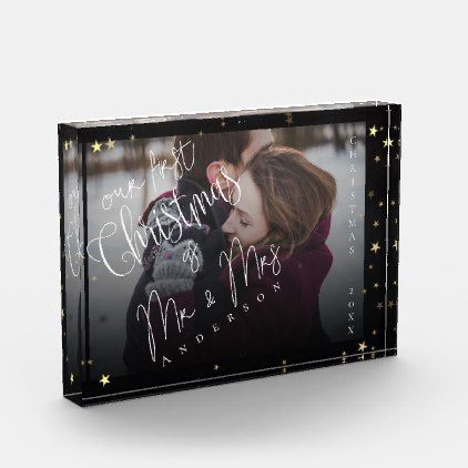 Our First Christmas Together Photo Block | Zazzle.com ...