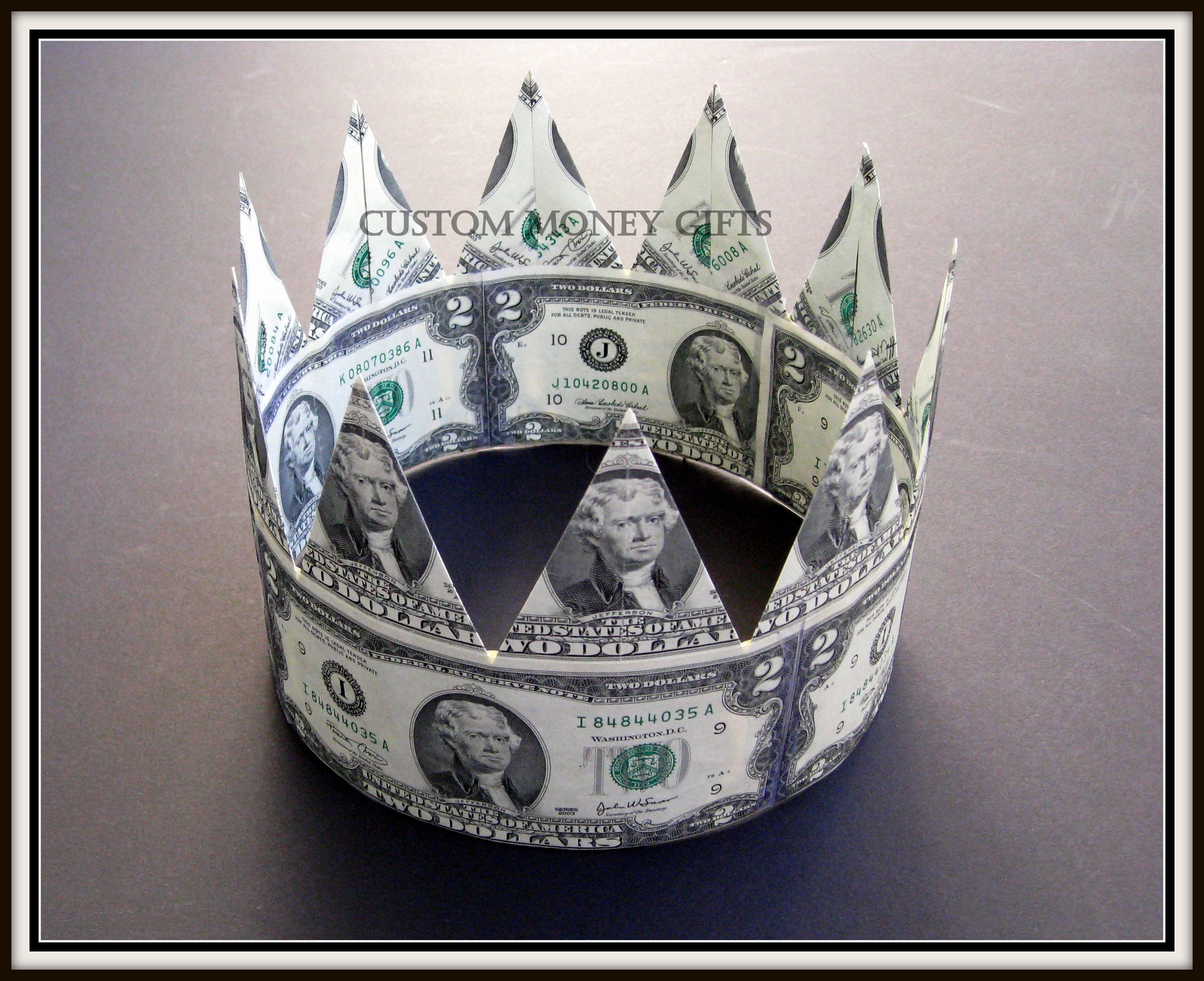 Money Crown Is The Best Gift For A Groom On His Wedding Or Engagement!  Available