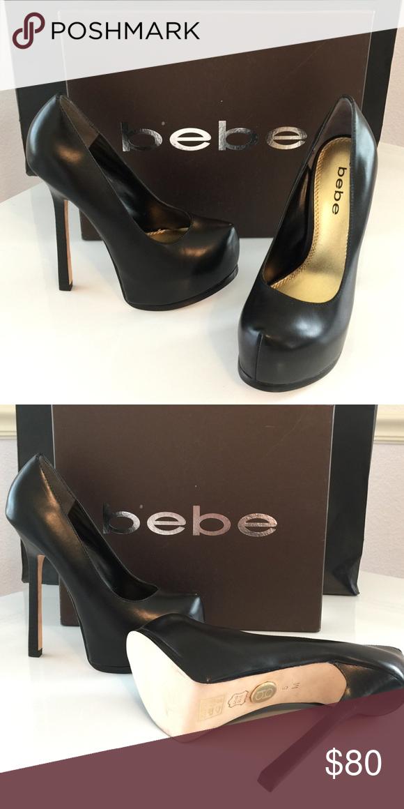bebe black platform sandals