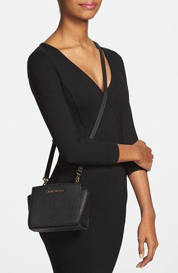 da62ff87a9a7 MICHAEL Michael Kors 'Selma - Mini' Saffiano Leather Messenger Bag |  Nordstrom