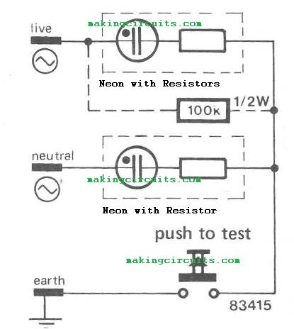 the post discusses a circuit which can be used for testing mains rh pinterest ca Tube Tester Wireless Receptacle Tester