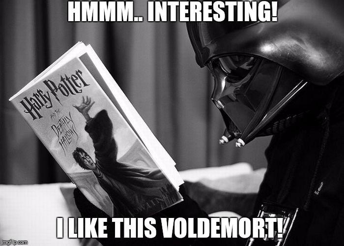 Darth Vader Reading Harry Potter Meme Generator Imgflip Star Wars Harry Potter Voldemort