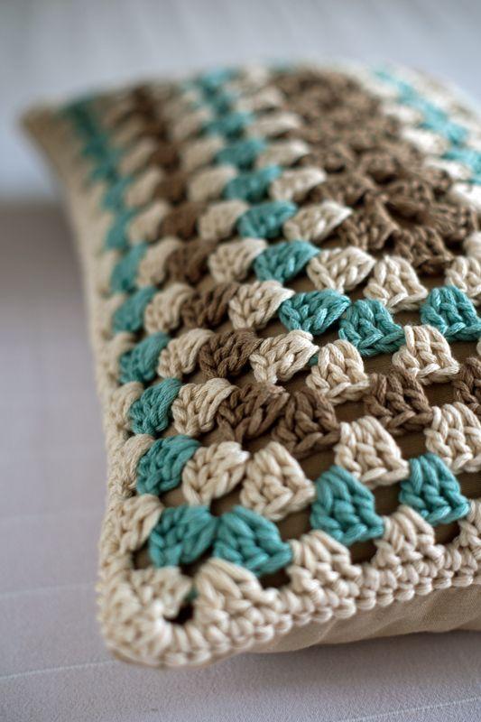 Lanukas: Patrón de cojín granny rectangular | Almohadones tejidos ...