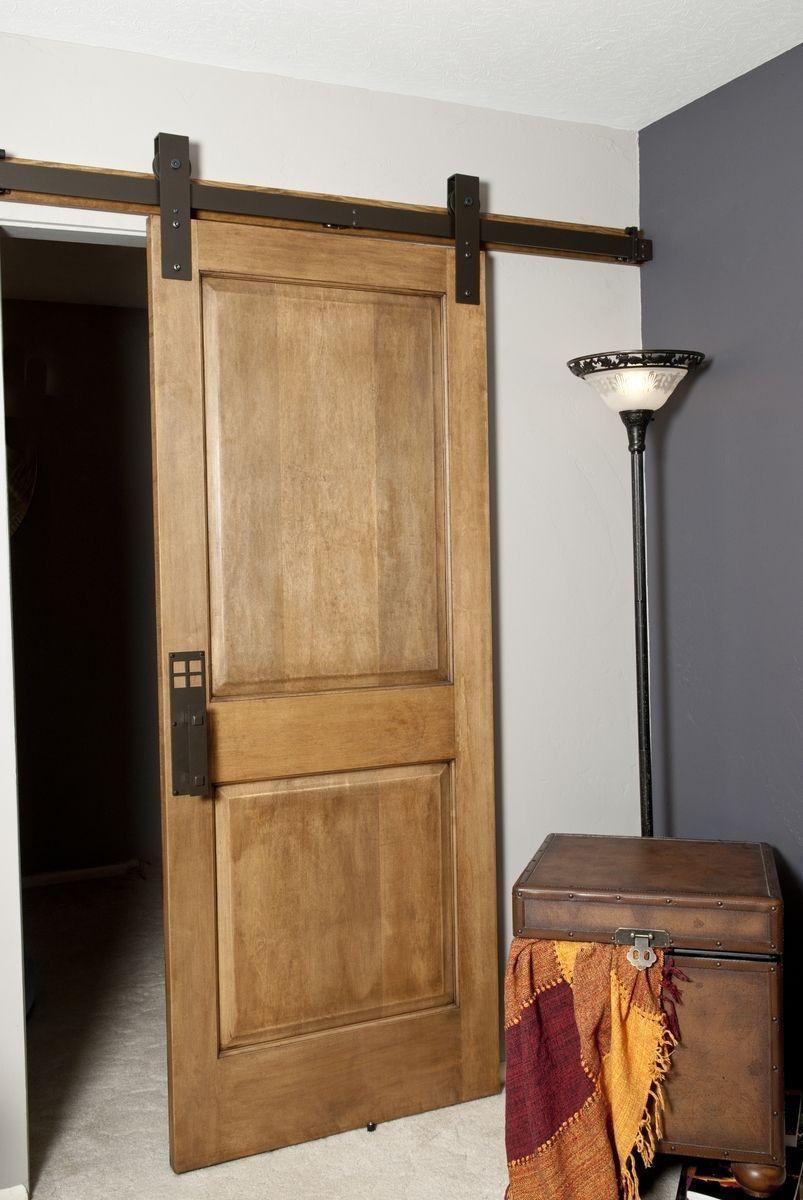 Custom Made Interior Barn Door Hardware Flat Track Installation