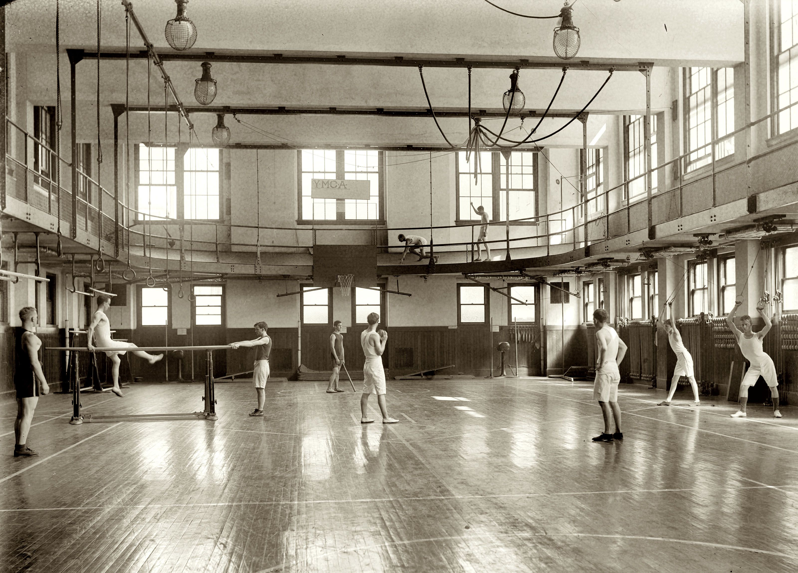 c 1920 ymca gymnasium in washington d c 1890 1920