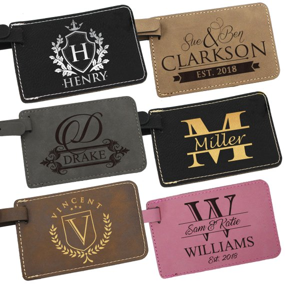 Leather Luggage Tag Luggage Tags Personalized Custom Luggage Tag