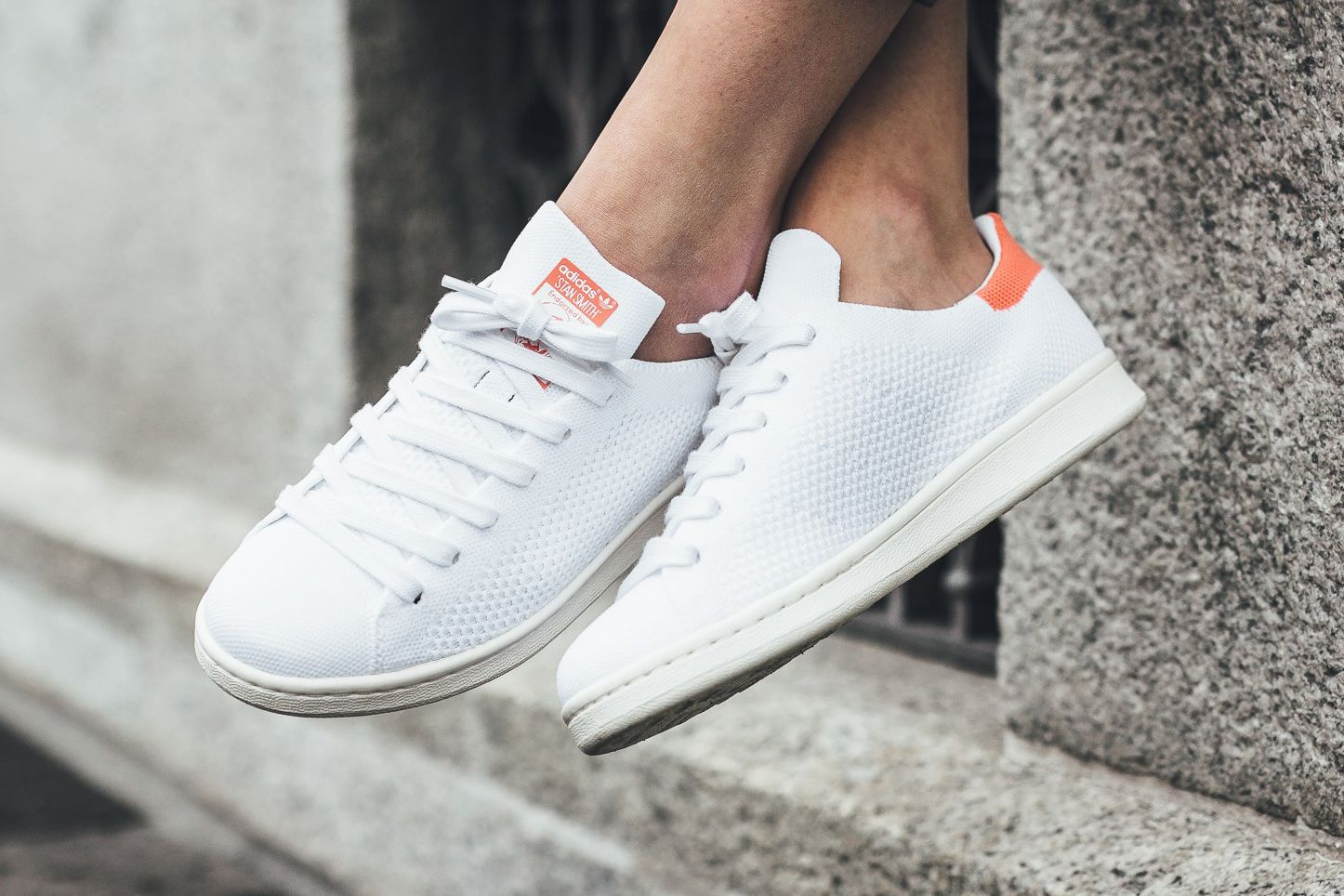 62887581 adidas Originals' Stan Smith Primeknit Gets a Dose of Vitamin C in ...