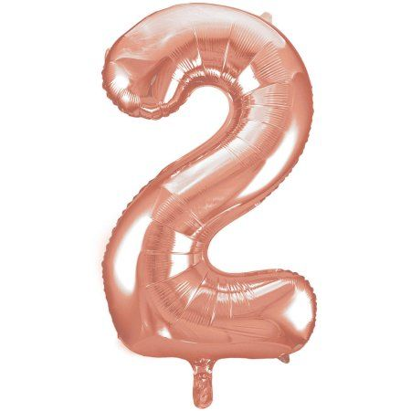 """34/"""" Large Gold Number 2 Two Foil Balloon Helium 2nd Party Decoration Supplies"""