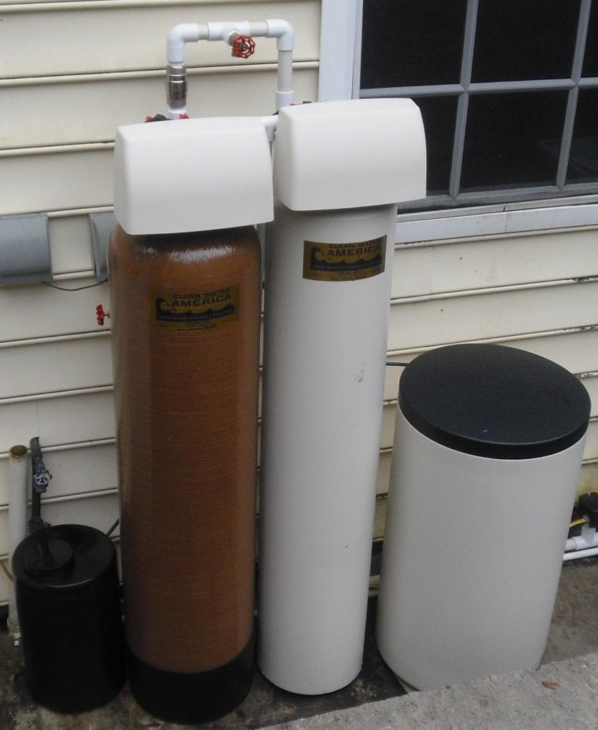 Egg Beater Sulfur Removing Filter System And Softener Installed In