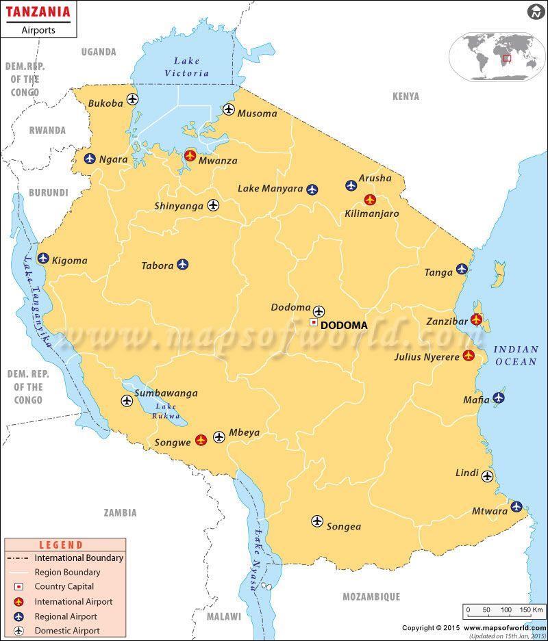Tanzania Airport Map Tanzania Pinterest Tanzania