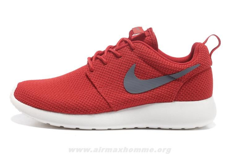 Sport Rouge Cool Gris Sail 511881-601 Nike Roshe Run Hommes