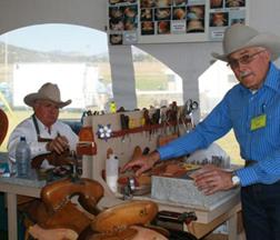 Saddle makers Bob Klenda & Mike Brennan, Meeker Colorado