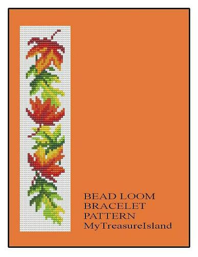 Bead Loom OR Peyote Maple Leaves Border by MyTreasureIsland
