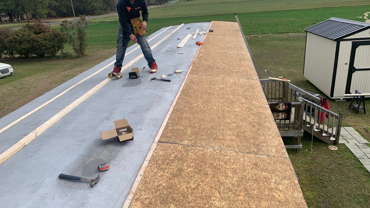 How To Repair Single Wide Mobile Home Trailer Roof