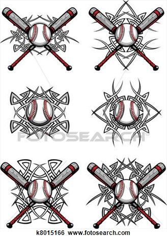baseball softball tribal graphic im clip art softball logo rh pinterest com Baseball Memorial Tattoos Baseball Players Tattoos