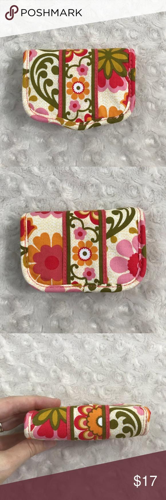 Vera Bradley Folkloric Business Card Holder Floral