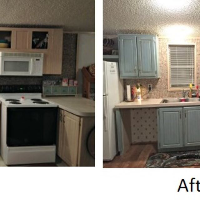 One of my favorite DIYs. I gave my kitchen cabinets a ...