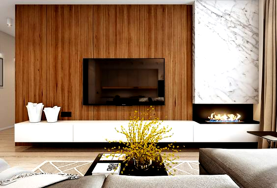 Two Efficient Apartments For Families With Two Children In 2020 Apartment Living Room Layout Apartment Living Room Living Room Tv Wall