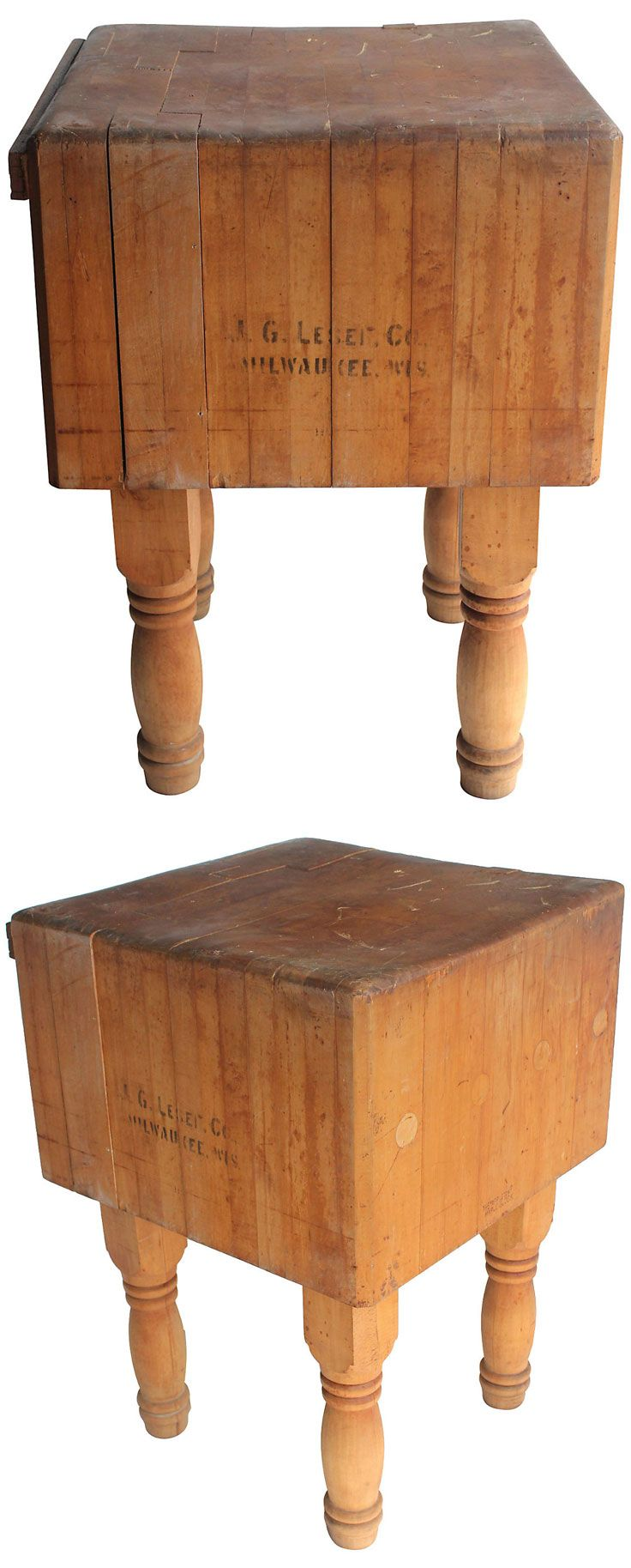 love maple butcher block table vintage estimated market