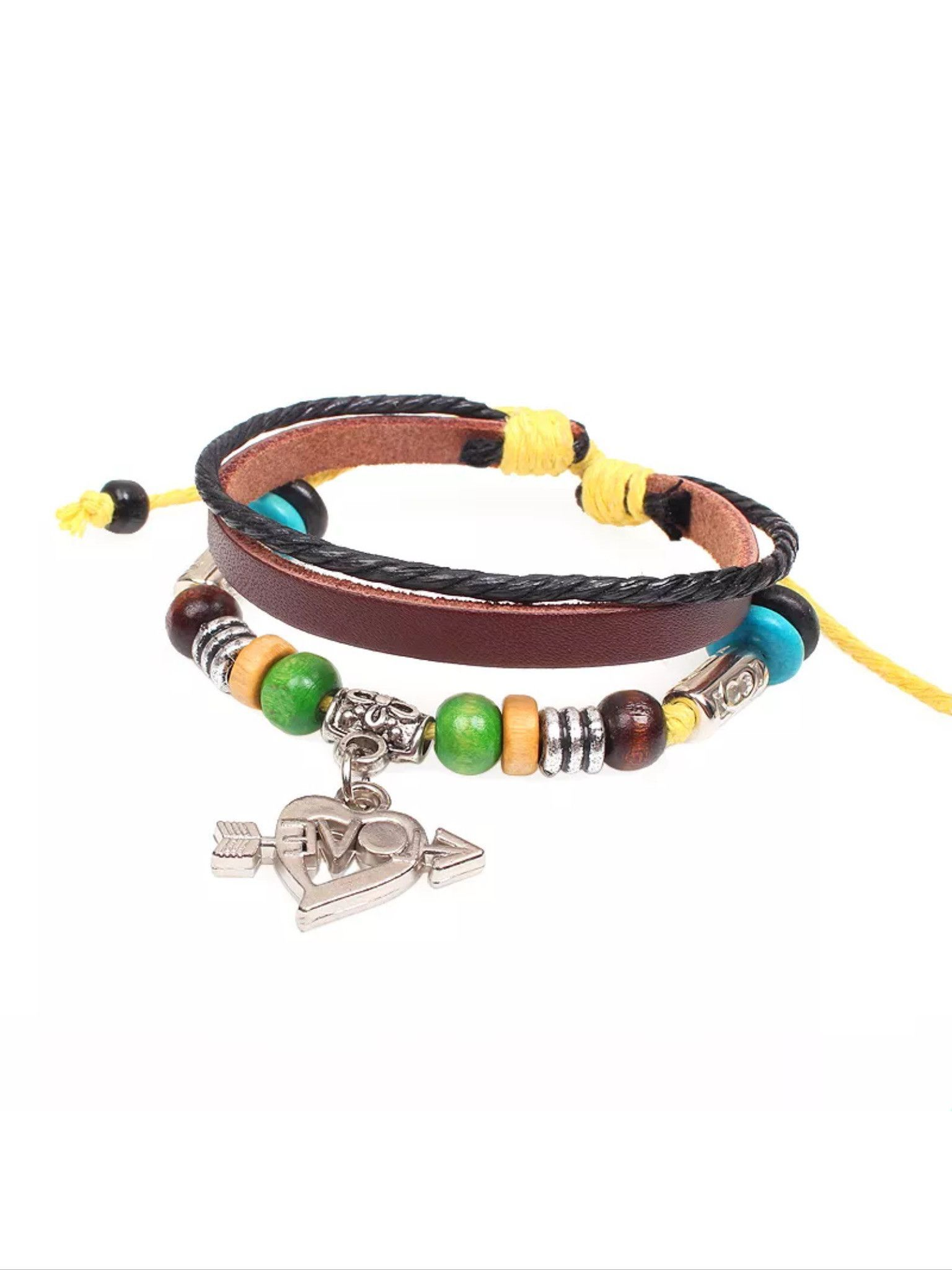 Love charm leather bracelet leather bracelets and products