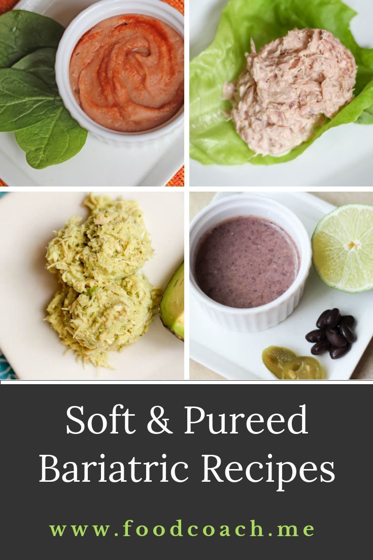 Pureed Food Recipes Bariatric Phase 2 Gastric Bypass